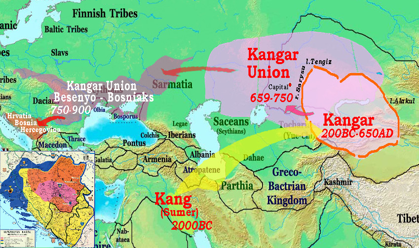 Map Of Asia 800 Ad.Kangar Dateline Turkicworld